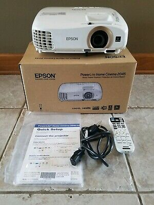 Used Epson PowerLite Home Cinema 2045 LCD Projector Model H709A