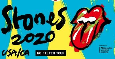 4 Tickets, The Rolling Stones 5/29/20, Lower Level, SEC 12! Dallas, Tx!