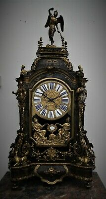 Antique Monumental  French Boulle  Ormolu  Faux TortoiseShell  Clock