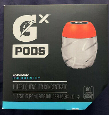 Gatorade GX Pods Glacier Freeze One 4-Pack NEW Fast Shipping 100% Authentic