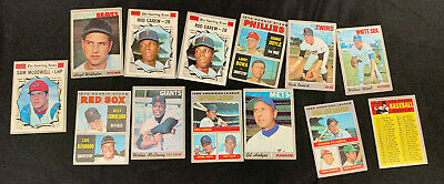 1970 Topps Baseball Card Lot (12) W/Minor Stars Mostly Vg-Ex Range