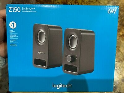 BLACK T45 LOGITECH MULTIMEDIA SPEAKERS Z150 STEREO SOUND FOR MULTIPLE DEVICES