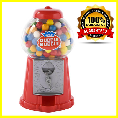 Classic Candy Vintage Bubble Gum Red Machine Bank 50 Gum ball, Include Dispenser