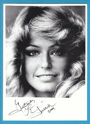 FARAH FAWCETT in person signed glossy PHOTO 5 x 7 inch AUTOGRAPH