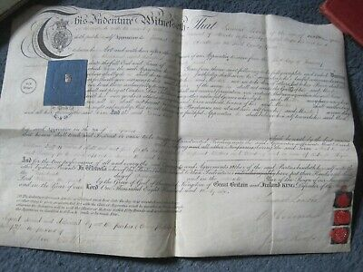 Indenture Staffordshire 1835 grocer's apprentice Cheadle James Kent