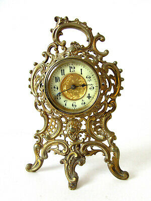 Neo Rococo 19th Century Antique German Mantel Clock With Simple Movement