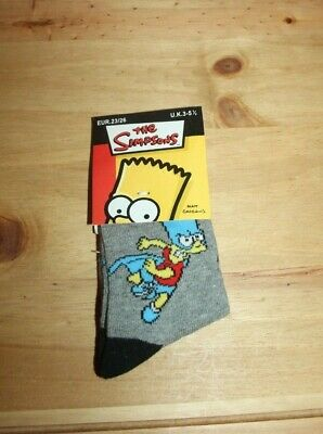 BNWT Kid's Simpsons socks size 3-5.5