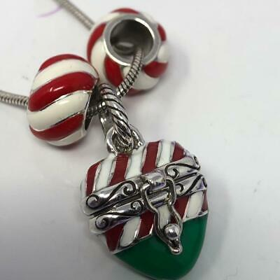 Candy Cane Wholesale Antiqued Silver Plated Charms C6187-10 20 Or 50PCs