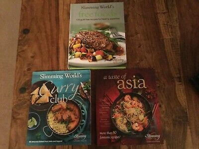 Slimming World Recipe Cookery Books, A Taste of Asia, Curry Club & Free Foods