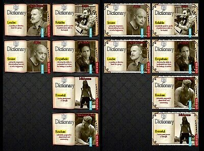 DICTIONARY Wave 1 PARCHMENT & REGAL 6 CARD SET Topps WALKING DEAD DIGITAL TRADER