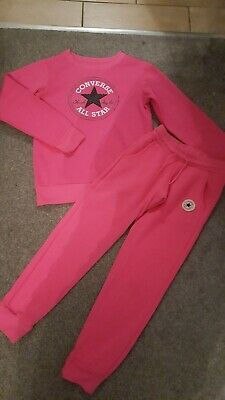 Full pink Converse Tracksuit 10-12 Years excellent condition l@@k