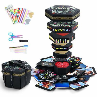 Explosion Gift Box DIY Surprise Photo Box, Creative Scrapbook Album, Love Memory