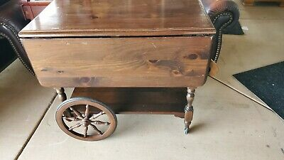Ethan Allen Dark Antiqued Tea Cart