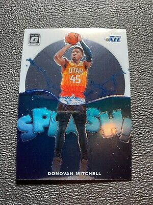 2019-20 Panini NBA Optic Splash Insert 9 Donovan Mitchell Utah Jazz