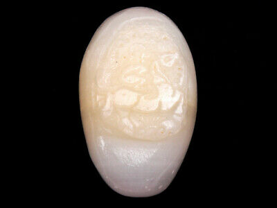 HeTian Jade Hand Carved Extra LARGE Pendant Sculpture Monkey Ride Horse #122618