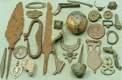 Lot Of Misc. Ancient Bronze / Iron / Lead / Glass Artifacts