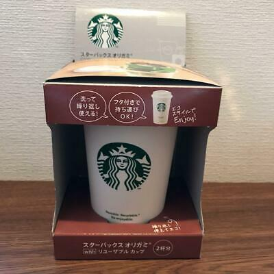 STARBUCKS Origami Reusable Eco Cup Japan Limited 2020 White 273ml