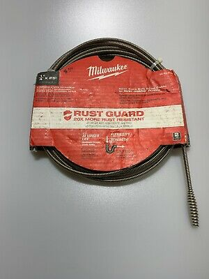 MILWAUKEE 48-53-2563 Drain Cleaning Cable,25 ft. Max. Run