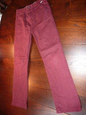 Baker By Ted Baker Age 10Yrs Burgundy Cotton/Elastane Jeans