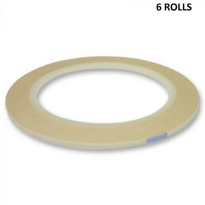 Hunkydory - 6 Rolls Of Double-Sided Tape - 3mm Width - 33 Metre Roll