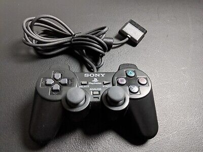 Official OEM Black Sony Playstation 2 PS2 Dualshock Controller Mint Condition