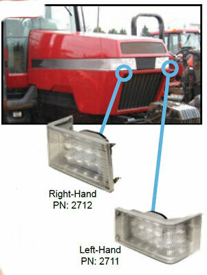 Case IH 71-89 Series Magnum Tractor LED Front Hood Light - Hi/Lo   LEFT or RIGHT
