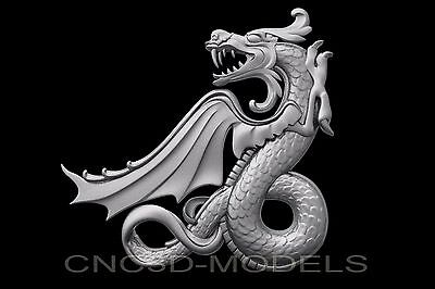 3D Model STL for CNC Router Engraver Carving Artcam Aspire Dragon b471