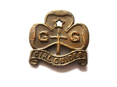Very Old, Vintage Girl Guides Brass Badge.