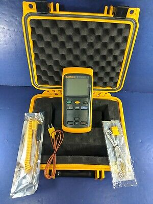 Fluke 51 II Thermocouple Thermometer, Screen Protector, Excellent, Case, More