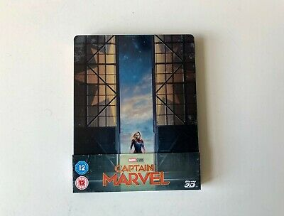 CAPTAIN MARVEL 3D BLU-RAY SteelBook - 2 Disc edition. Rare & Out of Print