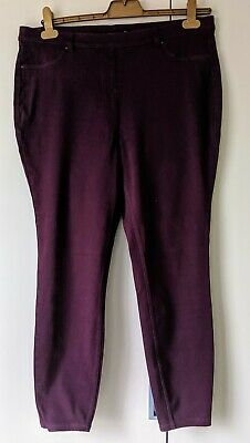 Burgundy Leggings From Next size 18 regular New Without Tags