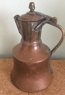 Vintage/Antique Large French Copper & Brass Water Jug/Pitcher