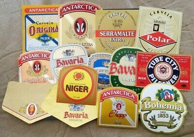 World wide nice lot of all different Beer labels XVIII