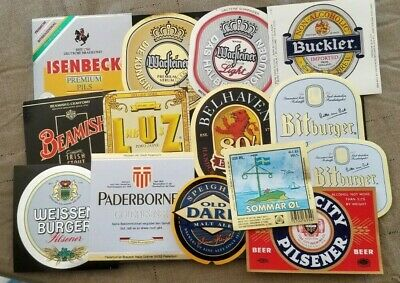 World wide nice lot of all different Beer labels XXI