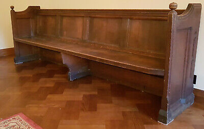 Original victorian 9 foot church pew
