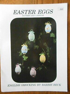 EASTER EGGS Pattern & Designs ENGLISH SMOCKING by Barbie Beck