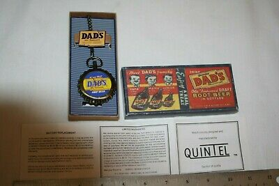 NOS Dad's Old Fashioned Root Beer Pocket Watch Still in Box w/ Warranty card