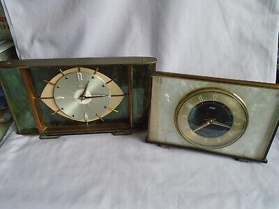 2 Vintage Metamec Mantel Clocks For Spares Or Repair
