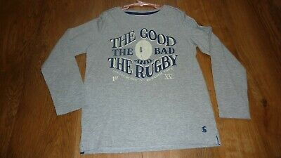 """Boys JOULES """"RUGBY"""" Long Sleeved Top Age 9-10 Years EX CON"""