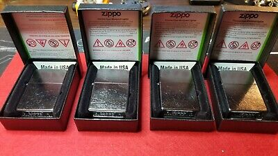 Zippo 207 Street Chrome Lighters Lot Windproof Brushed Chrome Finish New In Boxs