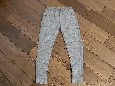 Girls Grey with silver stripe Track Suit Bottoms 9 Years