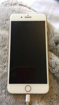 Apple iPhone 8 Plus - 64GB - Gold (Unlocked) A1897 (GSM)back cracked see photo