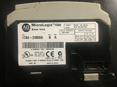 Allen Bradley MicroLogix 1500 1764-24BWA/A 1764-LSP Used