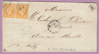 N°13 Paire Ttb Pc 2811 Sarreguemines Or Grosbliederstroff Moselle Lettre Cover