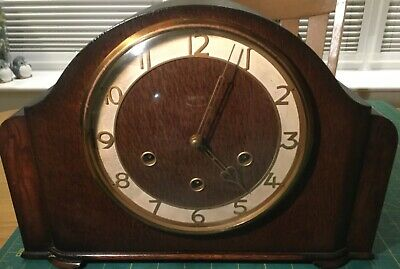 Vintage Smiths Enfield Mantel Clock with Westminster Chimes.