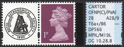 """GB SPECIALISED 1p PRESTIGE BOOKLET PANE SINGLE """"VISIONS OF THE UNIVERSE"""" MNH"""