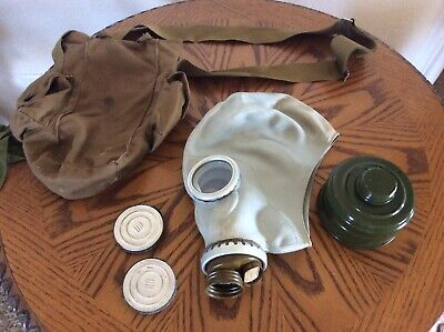 Size - 2y Soviet Russian Military Gas mask GP-424 SET Gray rubber