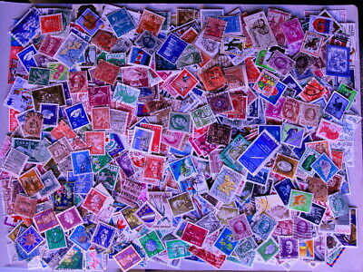 Huge collection of 1000 world stamps off paper (used). Quality kiloware.
