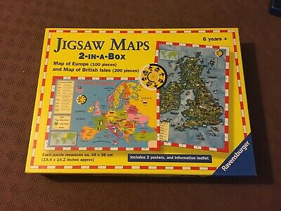 Ravensburger Jigsaw Puzzle Maps 2-in-a-box Map of Europe & Map of British Isles