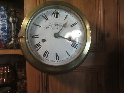Brass Ships Clock By Whyte Thompson & Co Glasgow